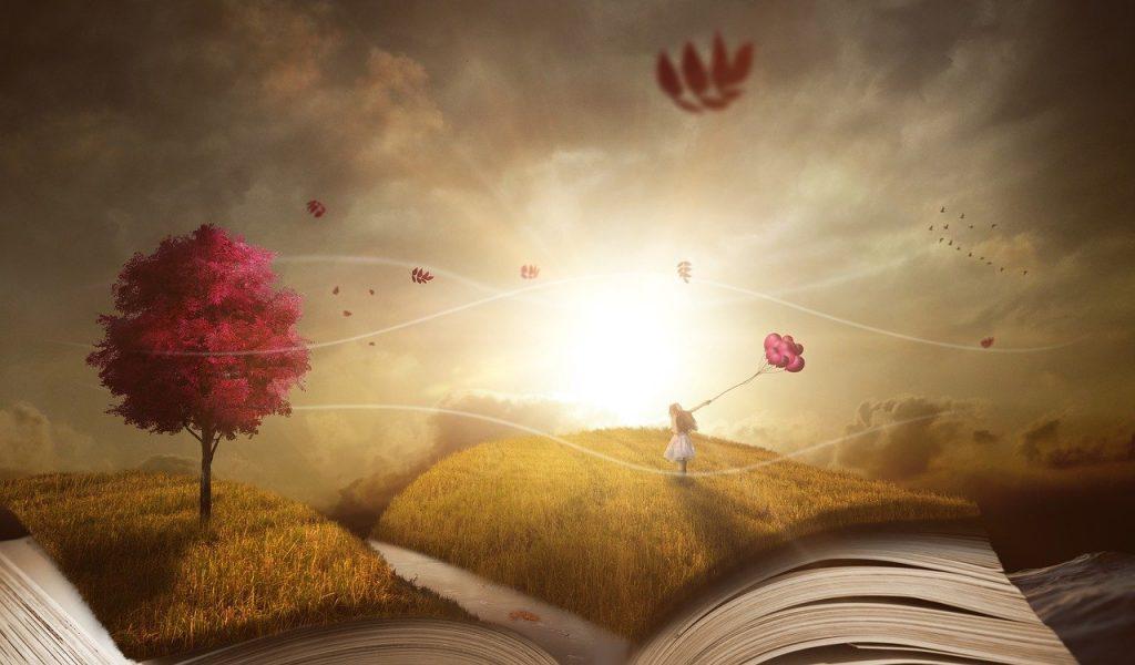 book, landscape, nature
