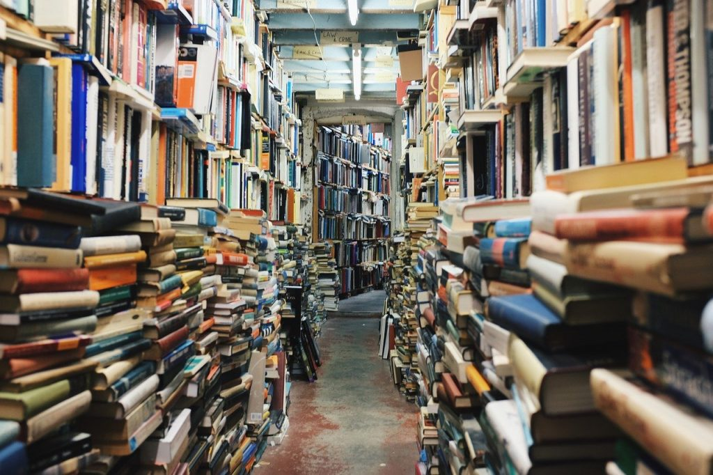 books, stack, library, literature review