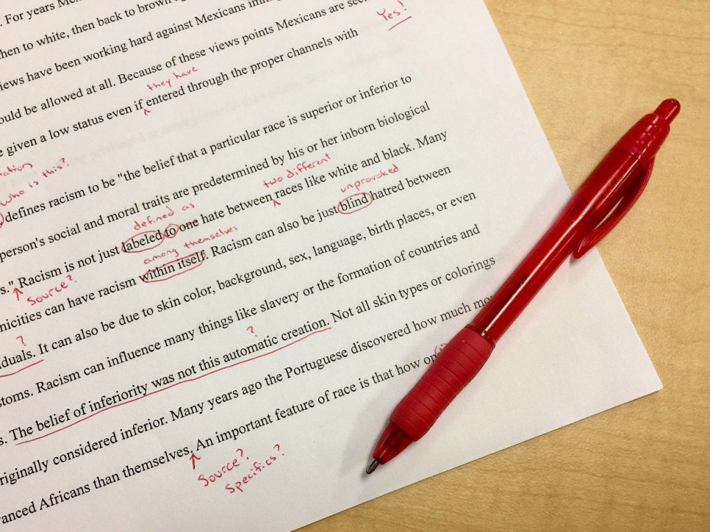 mistakes, editing, school